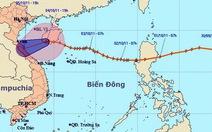 Tâm bão số 6 ở khu vực đảo Hải Nam