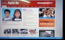 Website mạo danh báo Nghệ An tự xóa trắng trang