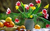 Bình hoa xinh đón tết