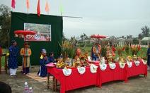 Lễ cầu bông ở làng rau Trà Quế, Hội An
