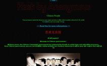 """Anonymous """"tổng tấn công"""" mạng Trung Quốc"""