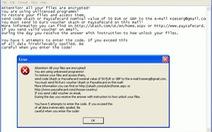 Phần mềm tống tiền mới đe dọa thế giới mạng