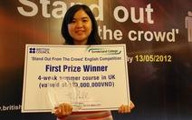 Nữ sinh giành học bổng 120 triệu đồng đến Anh