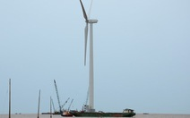 Bạc Liêu lắp 2 tuôcbin điện gió trên biển đầu tiên
