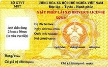 Từ 1-7, sử dụng giấy phép lái xe mẫu mới