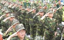 """125 """"chiến sĩ nhí"""" ra quân huấn luyện"""