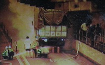 Cháy xe trong hầm Hải Vân