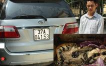 Bắt ôtô vận chuyển hổ trái phép