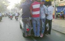 Xe chở khách quá tải