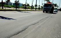 Vẫn chưa xử lý sụt lún trên đại lộ Đông - Tây