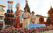 Độc đáo lễ hội lâu đài sáp tại Thái Lan