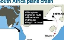 Nam Phi: máy bay quân sự rơi, 11 người thiệt mạng