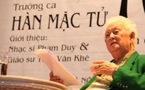 Nhạc sĩ Phạm Duy qua đời: Chủ nhật buồn...