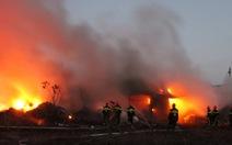 Đồng Nai: đốt cỏ gây cháy lớn xưởng phế liệu