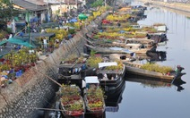Chợ hoa bến Bình Đông vào cao điểm
