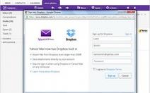 Yahoo! Mail kết hợp Dropbox gửi file dung lượng lớn
