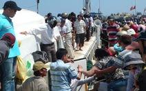 Dịp lễ 30-4, 1-5: Không tăng giá vé tàu ra đảo Lý Sơn