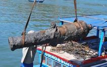 Phát hiện thêm khẩu thần công 600kg trên đầm Thị Nại