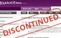 Yahoo Mail Classic ngừng hoạt động