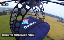 Giao pizza bằng trực thăng không người lái