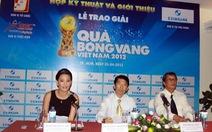 Năm cầu thủ dẫn đầu danh hiệu Quả bóng vàng 2012