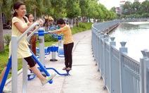 Lắp 60 máy thể dục kết hợp lọc nước
