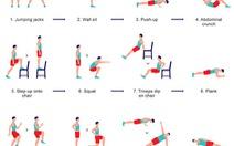 Bài tập cường độ cao 7 phút