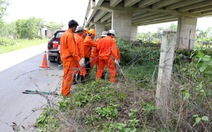 Cắt hàng rào đường cao tốc TP.HCM - Trung Lương