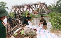 Hà Nội huy động quân, dân đắp đê chống ngập