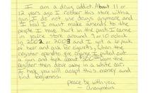 Lá thư xin lỗi của kẻ cướp gây xúc động mạnh