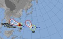 Hai cơn bão cùng xuất hiện trên biển