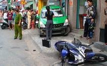 Đánh nhau giữa phố, tàí xế taxi gây tai nạn liên hoàn
