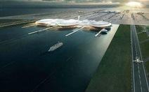 Anh xây sân bay ở giữa sông