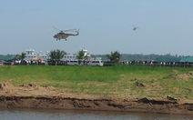 Huy động trực thăng, tàu chiến tập chống khủng bố