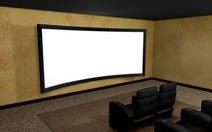 Dùng màn chiếu cong trong rạp chiếu phim tại nhà