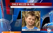 Bé trai 8 tuổi hi sinh khi cứu người trong biển lửa