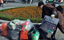 Nhà sư nhặt rác ở Hồ Tây ngày ông Táo