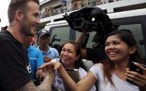 David Beckham thăm nạn nhân bão Hải Yến Philippines