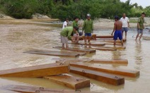 Thu giữ nhiều gỗ lậu trên Sông Cái
