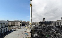 Hình ảnh Ukraine trước và sau bạo động