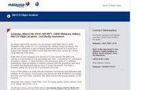 MAS: Chuyến bay MH370 - Malaysia hết nhiên liệu lúc 9g30