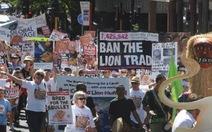Nam Phi: tuần hành phản đối trò giải trí săn bắn sư tử