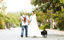 Chụp ảnh cưới với chó mèo cưng