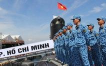Hình ảnh tổng duyệt lễ thượng cờ cho 2 tàu ngầm