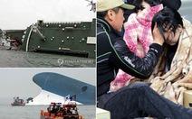 Chìm tàu ở Hàn Quốc: 2 người chết, hơn 290 người mất tích