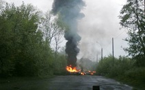 Quân Ukraina triển khai pháo di động Grad tại Slaviansk