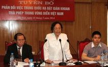 Nguyên Phó Chủ tịch nước Nguyễn Thị Bình: Kiên quyết đấu tranh