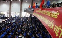 Sinh viên ĐHSP Huế míttinh phản đối Trung Quốc