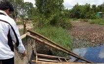 Nguy cơ hóa chất lan ra kênh thủy lợi