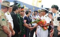 Tàu đổ bộ Nhật chở hải quân Mỹ, Úc, Nhật đến Đà Nẵng